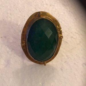 Antique faced natural gem ring